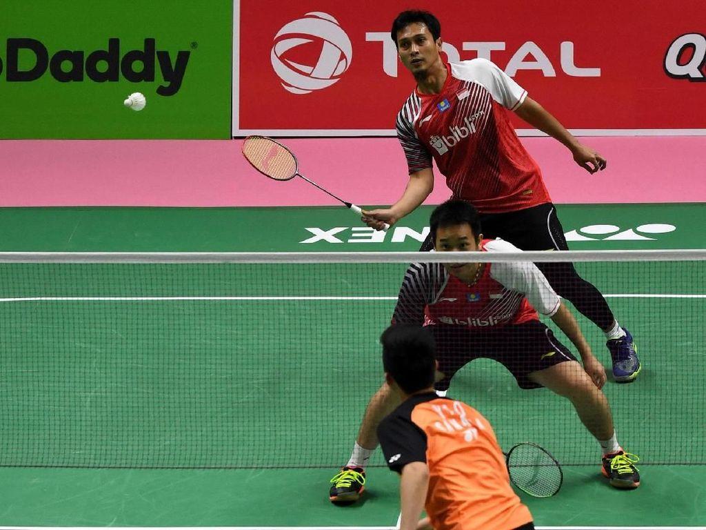 Jelang Perempatfinal, Ini Saran Ahsan/Hendra Untuk Juniornya
