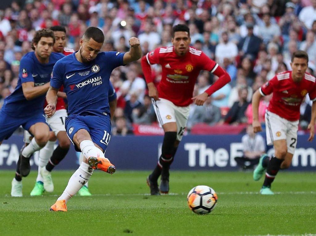 Final Piala FA: Chelsea Ungguli MU 1-0 di Babak Pertama