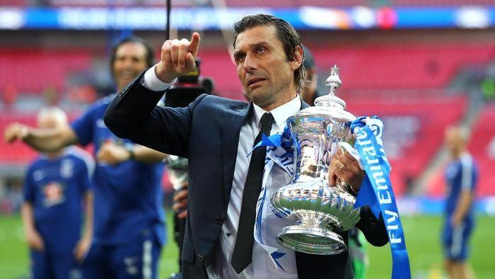 Antonio Conte menegaskan dirinya seorang juara. (Foto: Catherine Ivill/Getty Images)