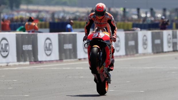 Marc Marquez memasuki balapan MotoGP Italia dengan keunggulan 36 poin atas Maverick Vinales.