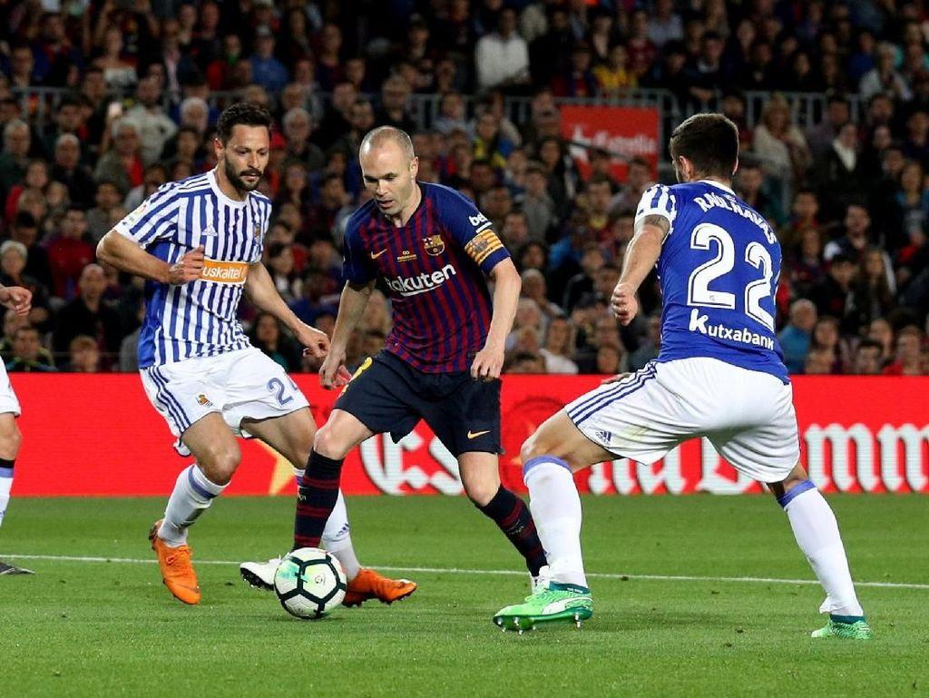 Barca Kalahkan Sociedad pada Laga Perpisahan Andres Iniesta