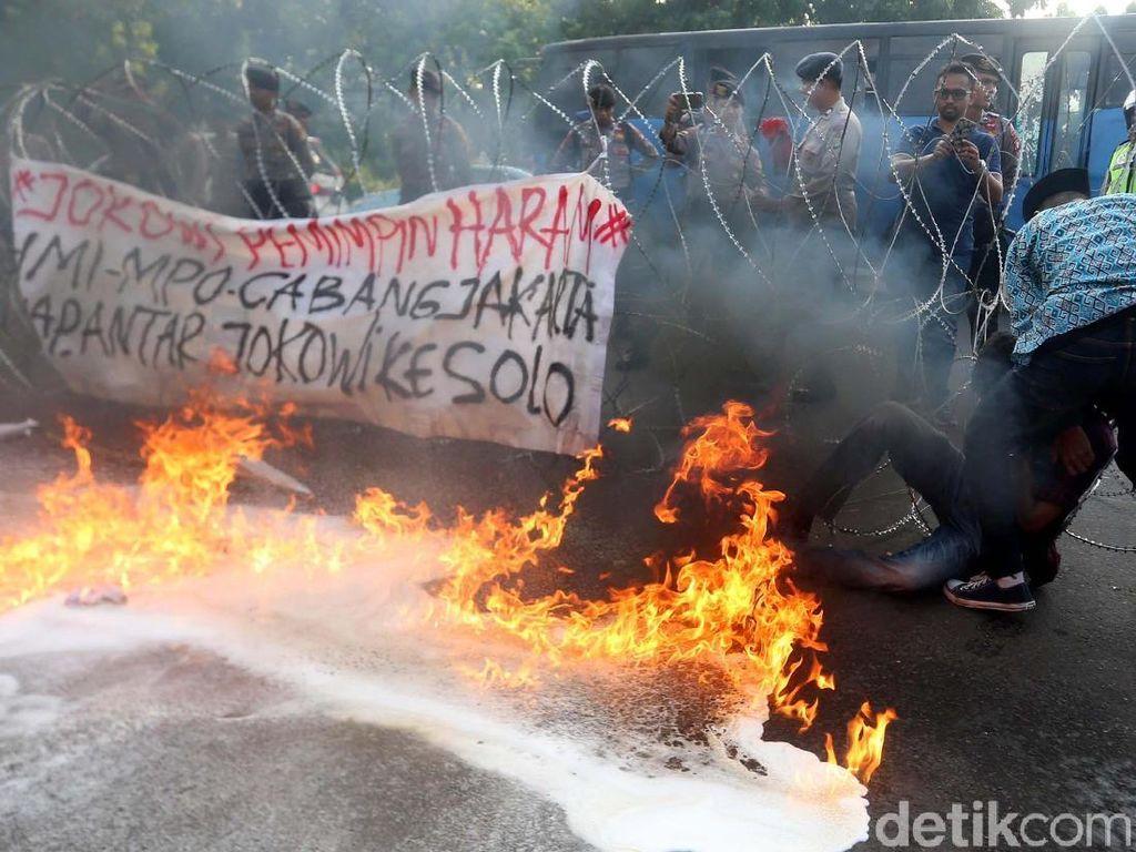 Polisi: Tak Ada Mahasiswa Kritis Akibat Demo Ricuh di Istana