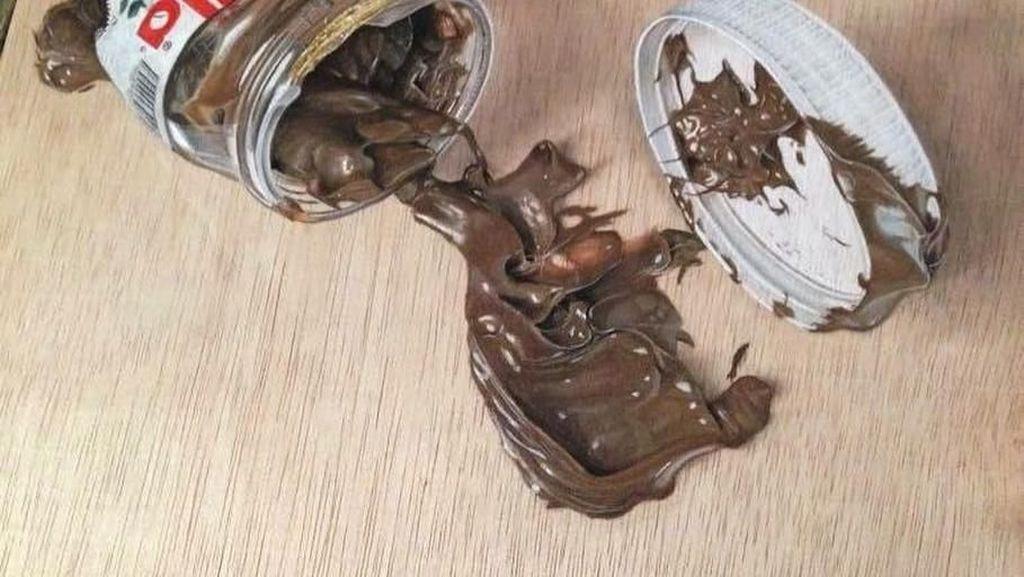 Wow! Seniman Ini Buat Lukisan Makanan Mirip Aslinya di Atas Kayu Plywood