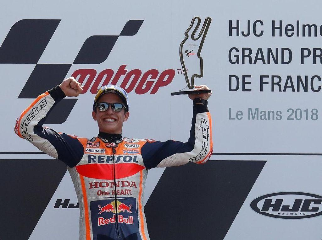 Menangi MotoGP Prancis, Marc Marquez Samai Rekor Casey Stoner