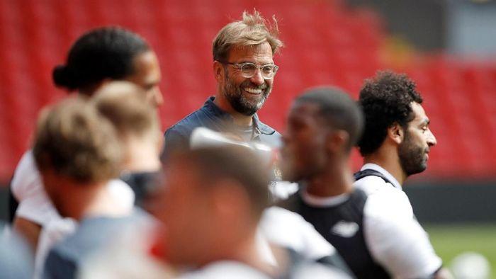 Gestur-gestur Juergen Klopp membangun atmosfer positif di Liverpool. (Foto: Carl Recine/Reuters)