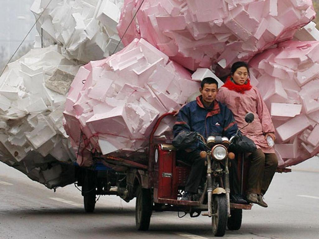 Sepeda, Becak Sampai Truk Obesitas di China Ini Bikin Takjub