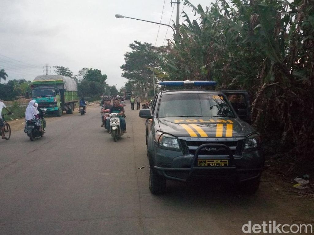 Polisi Jaga Trek Liar di Majalaya Bandung yang Makan Korban
