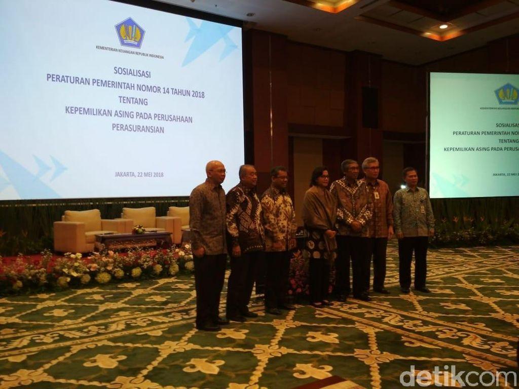 Sri Mulyani Sosialisasikan Aturan Kepemilikan Asing di Asuransi