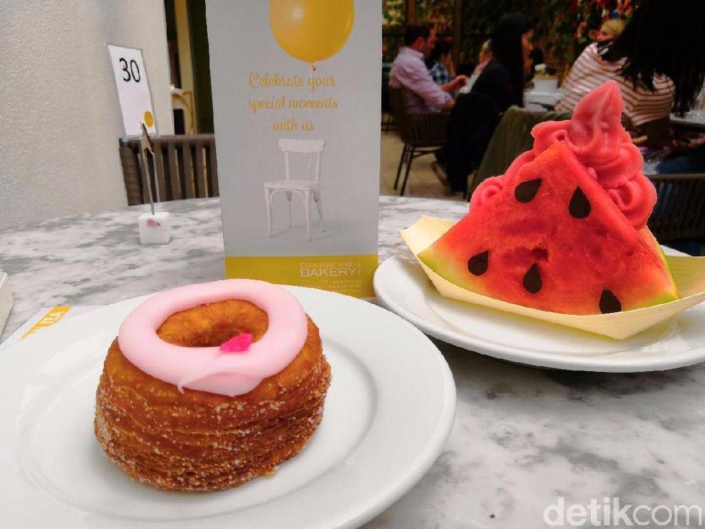 Unik dan Segar! Es Krim Semangka dan Cronut Peach Mawar Buatan Dominique Ansel