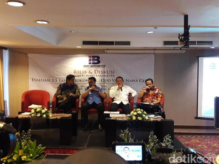 Indo Barometer: Elektabilitas Duet Jokowi-Prabowo Selalu Tinggi