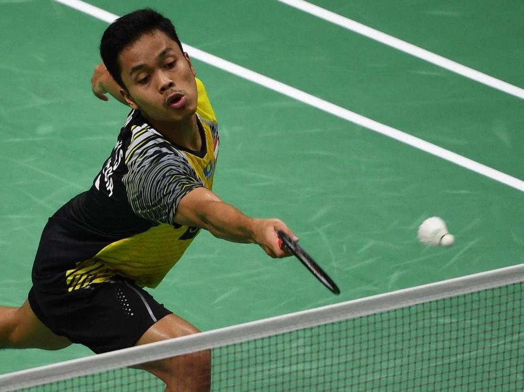 Anthony Dikalahkan Chong Wei, Indonesia Tertinggal 0-1 dari Malaysia