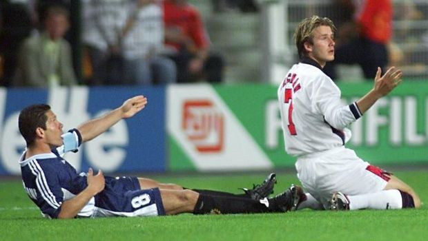 Insiden Diego Simeone dengan David Beckham di Piala Dunia 1998