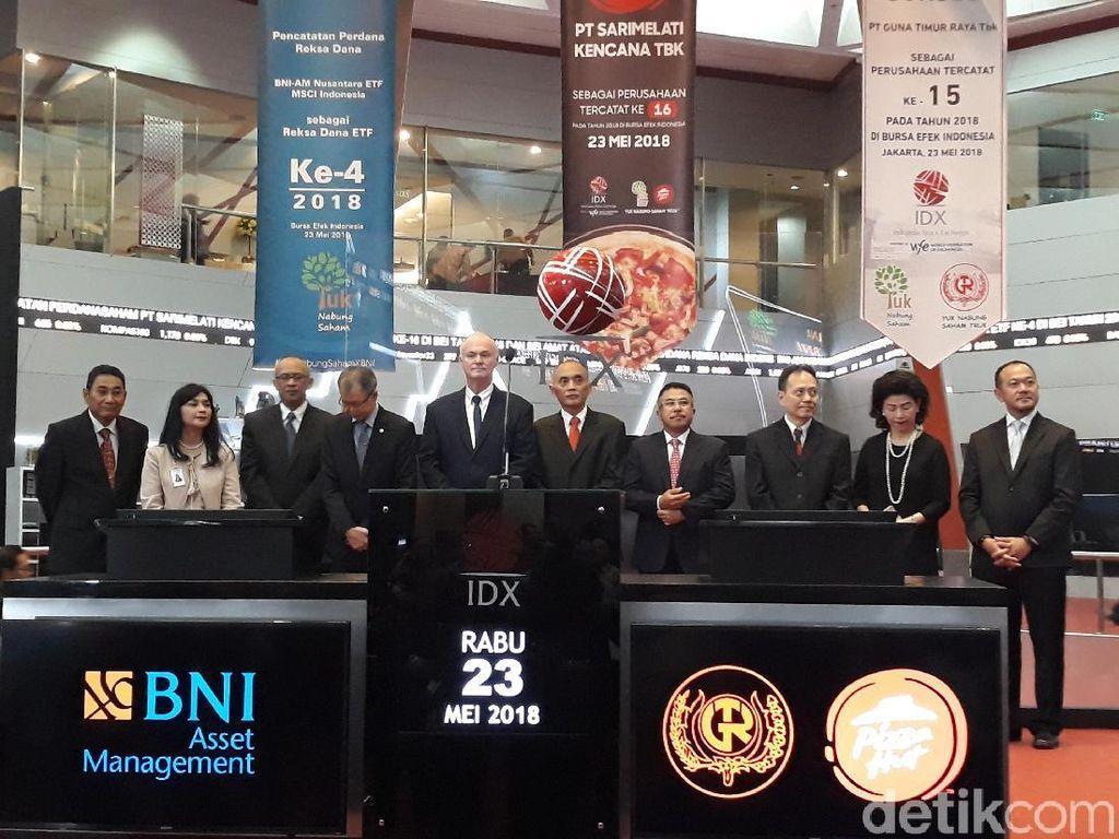Melantai di Bursa, Saham Pizza Hut Indonesia Cuma Naik 1,35%