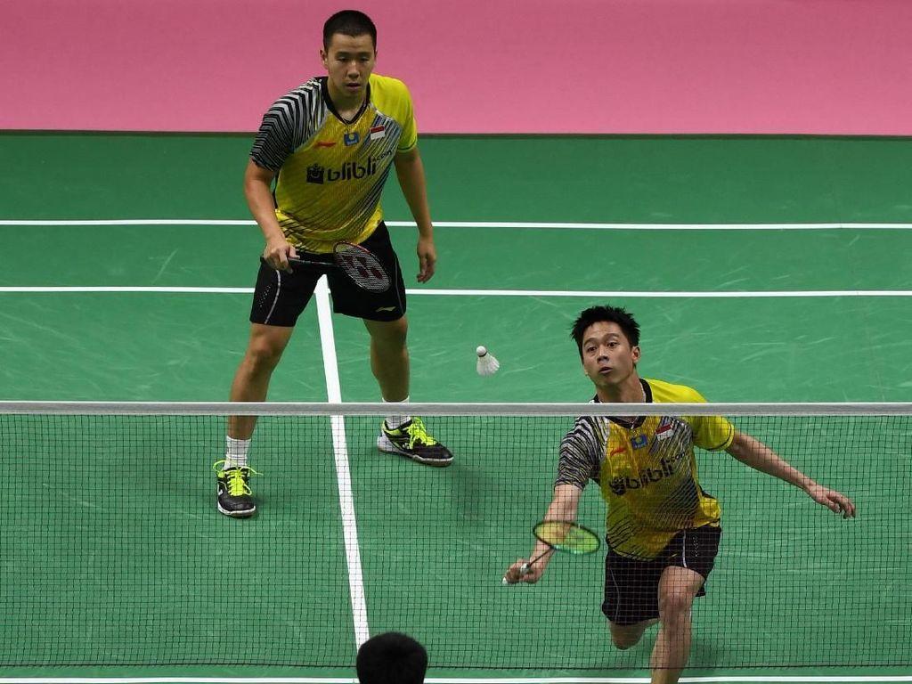 Kevin/Marcus Menang, Indonesia Vs Korea Imbang 1-1