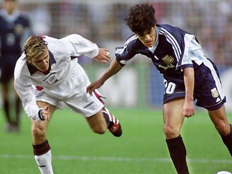 Duel David Beckham dengan Ariel Ortega di Piala Dunia 1998