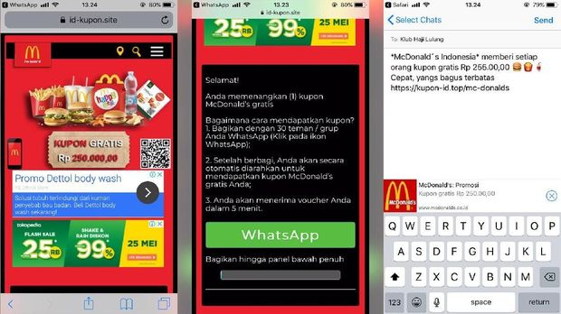 Hoaks Kupon Gratis McDonald Adalah Scam Bukan Phising