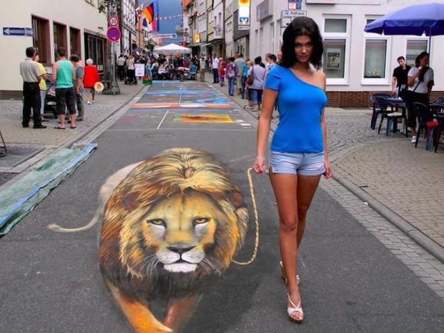 Seni 3 Dimensi di Jalanan yang Bikin Orang Keheranan