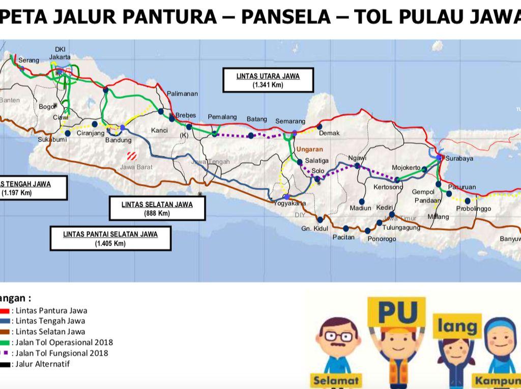 Ini Peta Tol Jalur Mudik di Jawa dan Sumatera