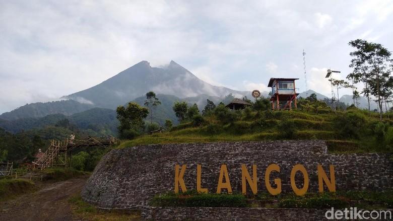 Gunung Merapi dari Dusun Klangon Sleman (Ristu/detikTravel)