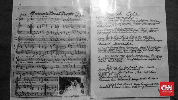 Koleksi partitur Ismail Marzuki yang didata TIM.