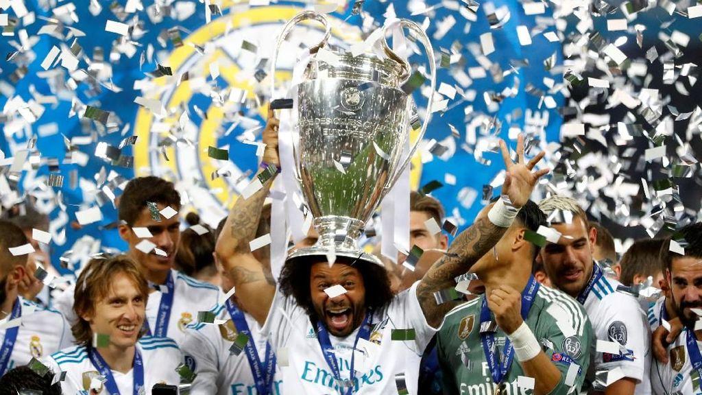 Suasana Ruang Ganti Madrid Pasca Kalahkan Liverpool
