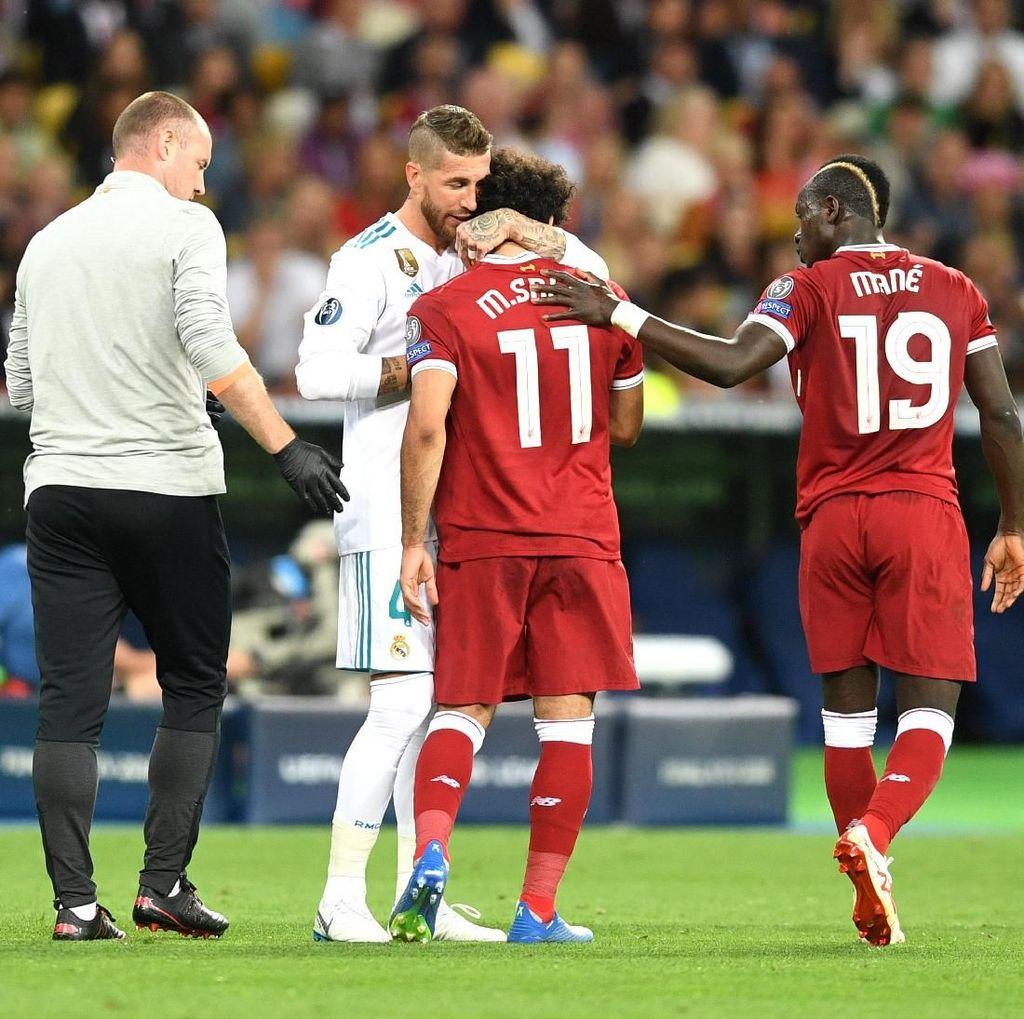 Bikin Mohamed Salah Cedera, Sergio Ramos Diserang di Medsos