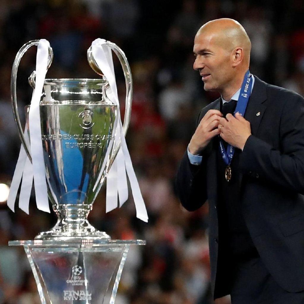 Zinedine Zidane, Pelatih Pertama yang Juara Liga Champions Tiga Kali Beruntun