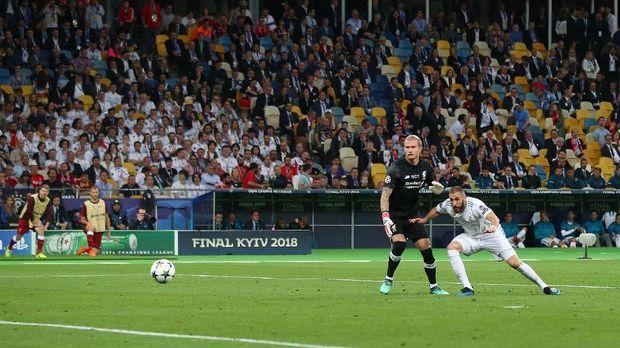 Karim Benzema jadi pemecah kebuntuan laga final Liga Champions 2018.