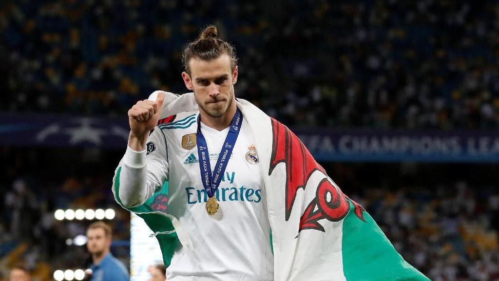 Bale di Final Liga Champions: 4 Laga, 3 Gol, 4 Trofi