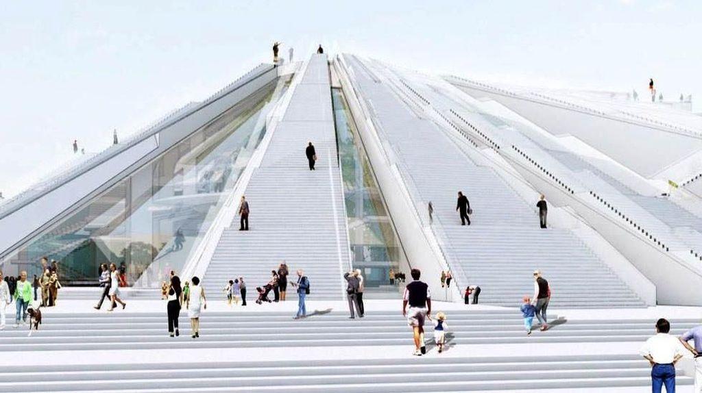 Monumen Komunis Ini Disulap Jadi Milenium Falcon