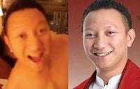 Potongan video 'Aryodj di apartemen' (kiri) dan foto Aryo Djojohadikusumo (kanan). Gerindra membantah pria di video itu adalah Aryo.