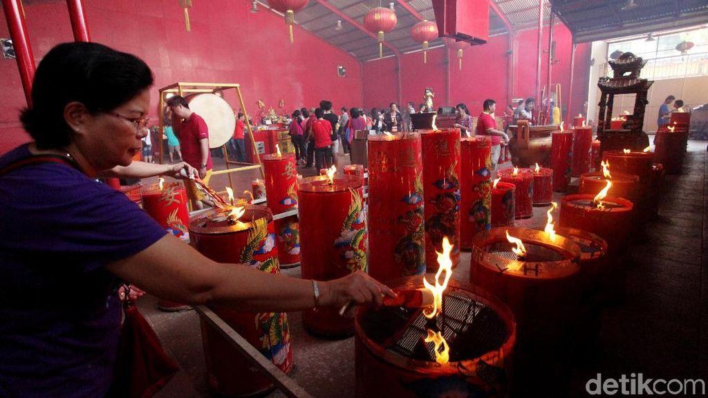Suasana Perayaan Waisak di Wihara Dharma Bhakti Glodok