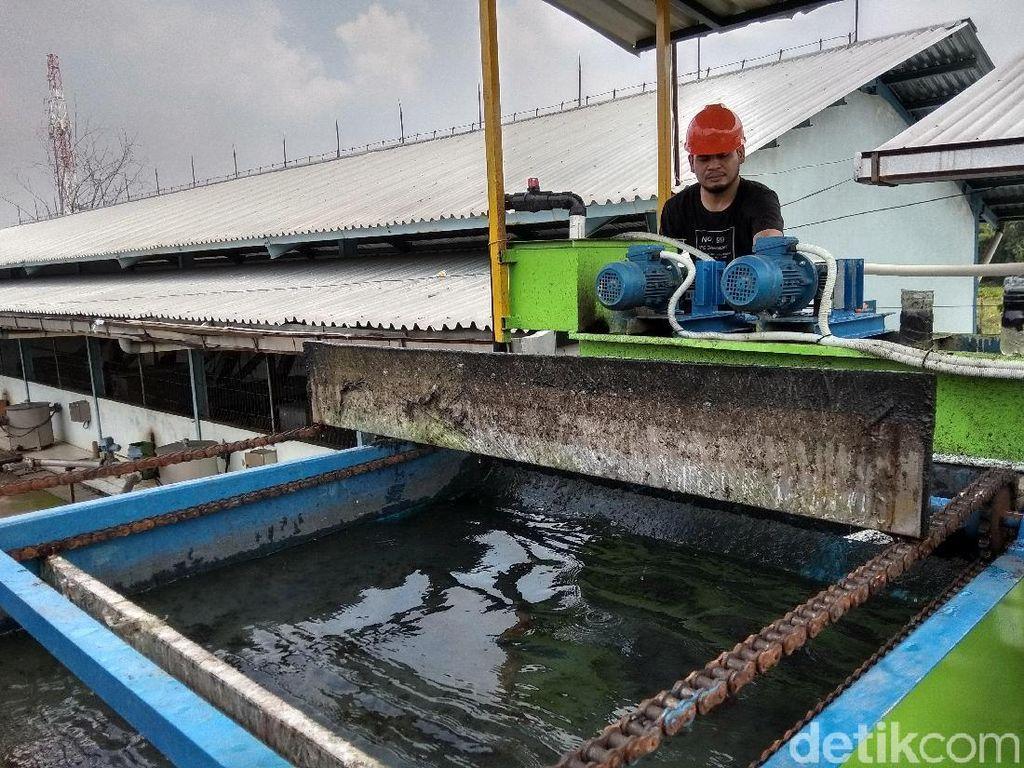 Foto: Pengolahan Air Tinja dari Septic Tank Hingga Bening
