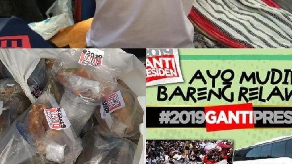 Potret #2019GantiPresiden: Kaus, Takjil hingga Mudik