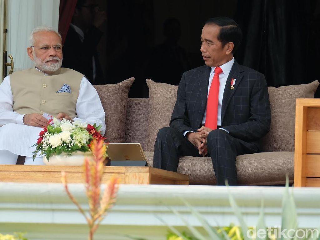 Jokowi dan PM India Bahas Investasi hingga Tarif Bea Masuk Sawit
