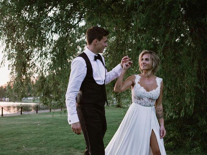 Victor Lindelof dengan Maja Nilsson saat melangsungkan pernikahan. (Foto: dok. Instagram)