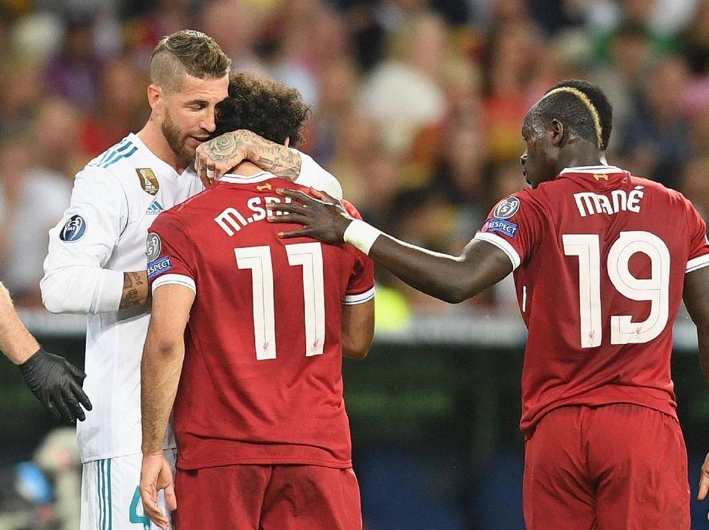 Pelanggaran Ramos ke Salah di Final Liga Champions Bukan Instruksi Zidane