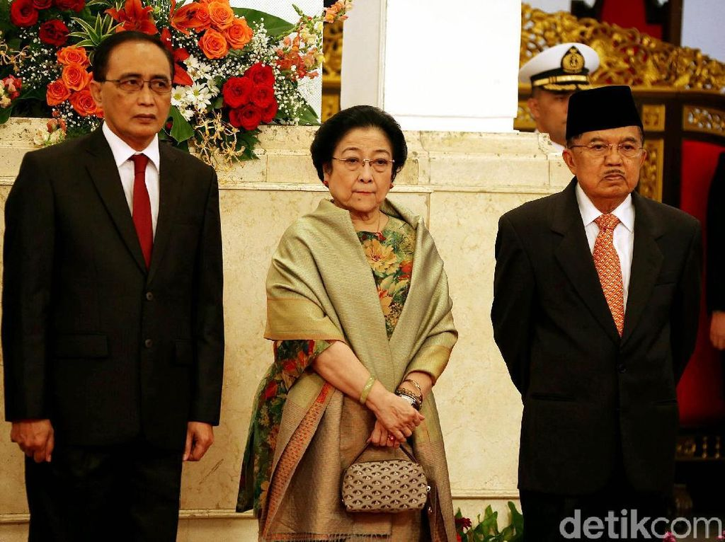 Megawati Hadiri Pelantikan Wantimpres Yahya Staquf
