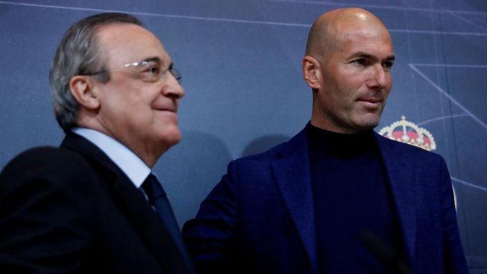 Florentino Perez kembali menjadi Presiden Madrid pada 2009. Sejauh ini sudah ada tujuh pelatih yang bekerja di bawah pimpinannya. Foto: Juan Medina/REUTERS
