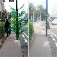 Before-After pohon imitasi /