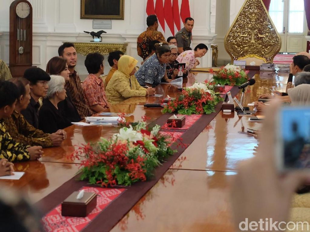 Momen Peserta Kamisan Bertemu Jokowi di Istana