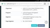 Anggaran lampu hias pencahayaan kota di APBD DKI 2018 /