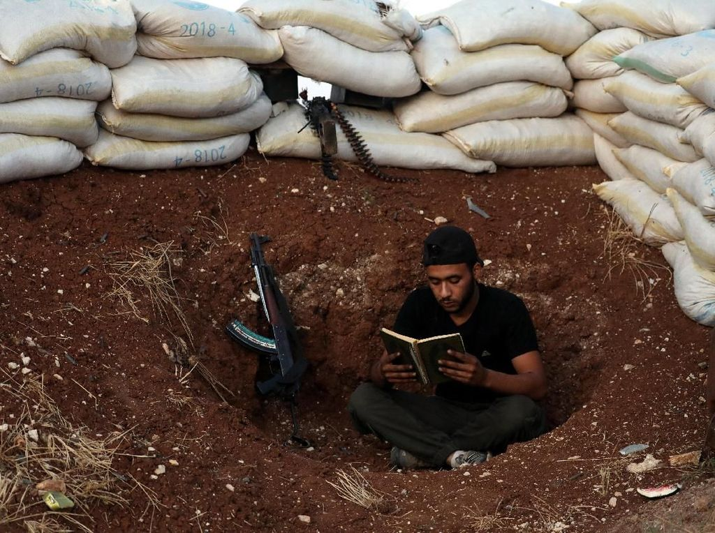 Foto: Seperti Ini Momen Puasa Para Pejuang di Suriah