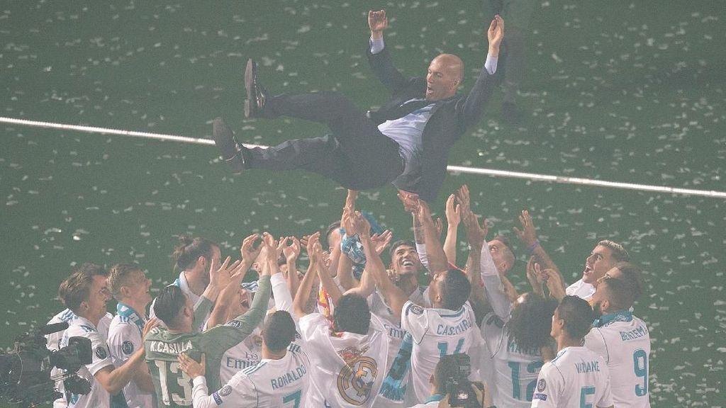 Semua Pemain Madrid Beri Salam Perpisahan untuk Zidane, Kecuali Bale