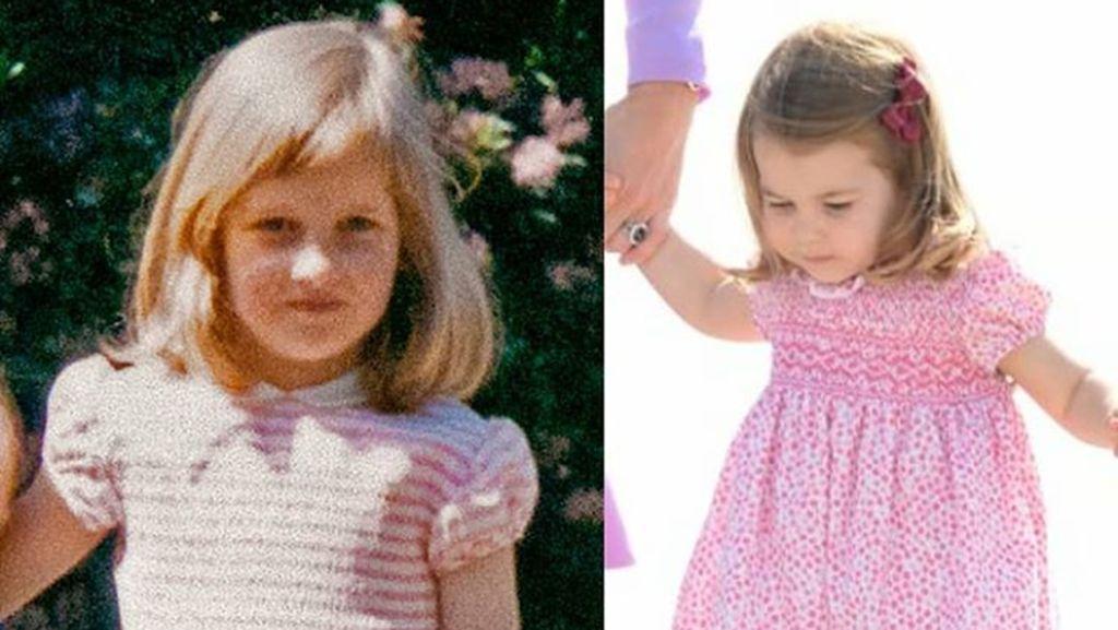 Saat Disandingkan Begini, Putri Charlotte Lebih  Mirip Siapa Ya?