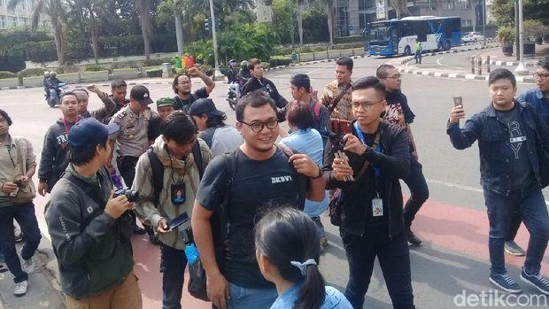 Insan Pers Gelar Aksi Bela Radar Bogor yang Digeruduk PDIP