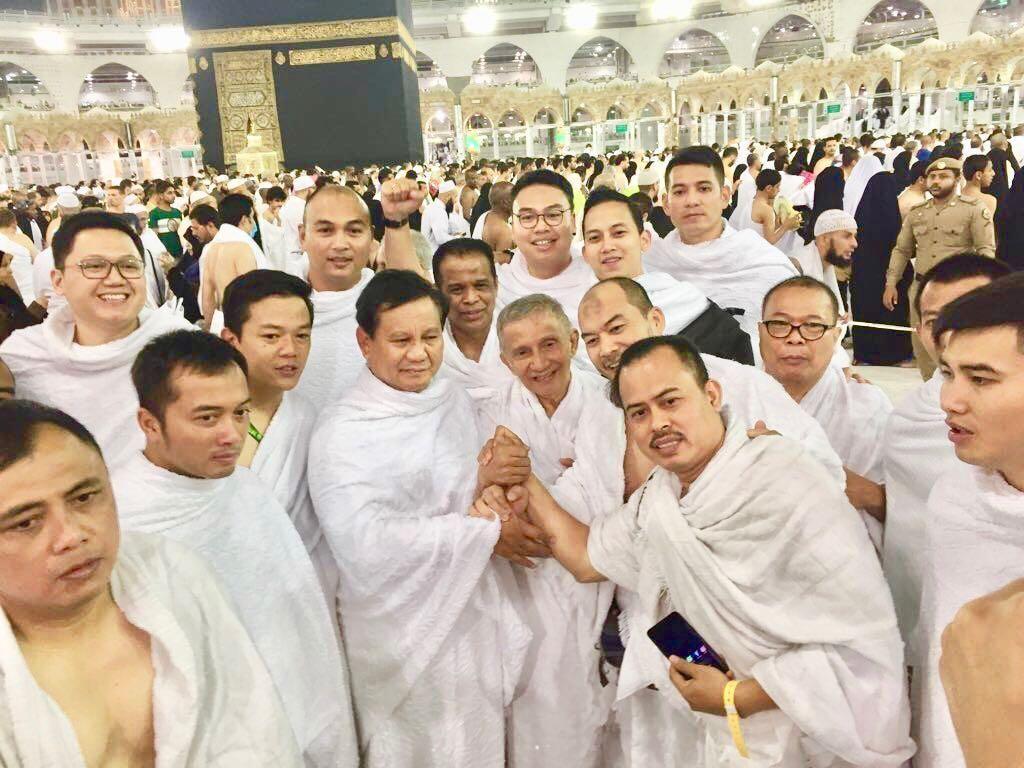 Bertemu Amien Saat Umrah, Prabowo Sudah Kembali ke Tanah Air