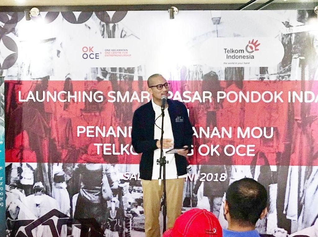 Sandiaga Soroti Akses Transportasi Umum ke Pasar Pondok Indah