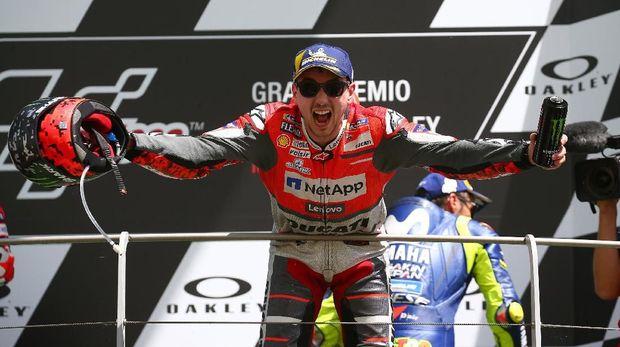 Jorge Lorenzo punya kualitas papan atas sebagai pebalap di lintasan MotoGP.