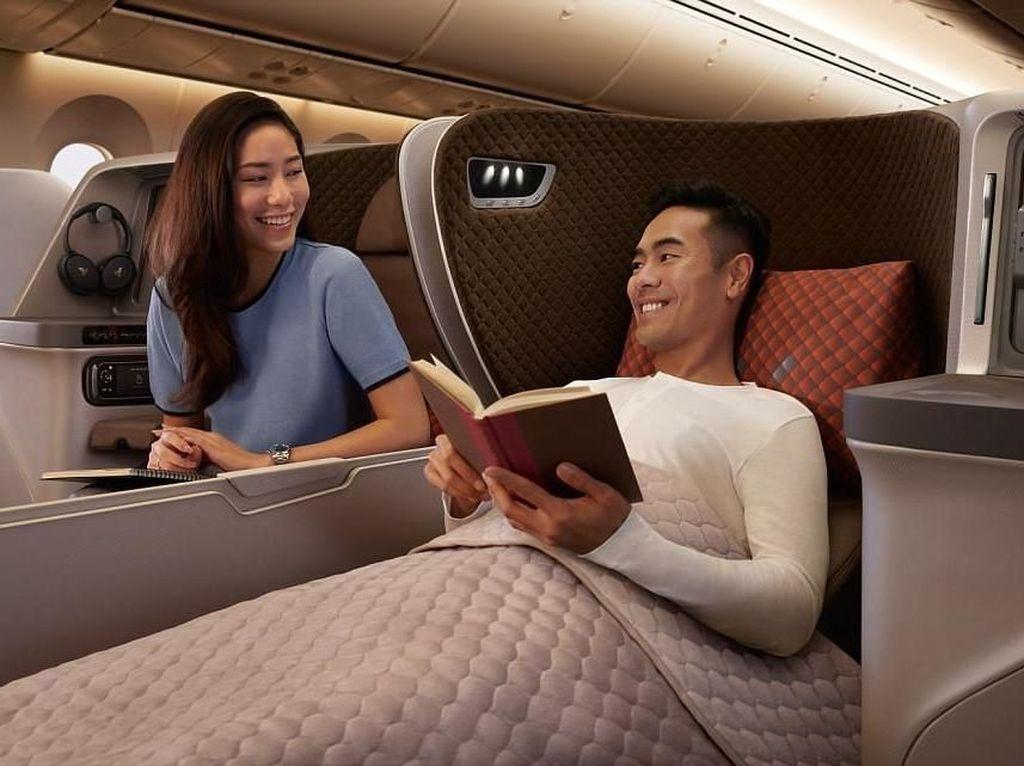 Foto Interior Mewah Kelas Bisnis Armada Baru Singapore Airlines